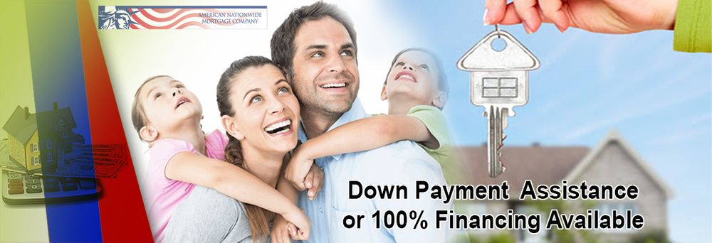 down payment assistance or 100% financing available